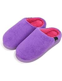 Loungable Boutique Purdashian - Zapatillas de estar por casa de tela para mujer, color rosa, talla M