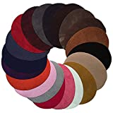 20 Pcs Assorted Color Oval Patch Iron on Patches Leather Fabric for Clothes Repairing Sewing Kit