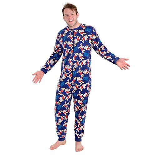 Tom Franks Men/'s Space Comic Print Fleece  All In One Sleepsuit Pyjamas