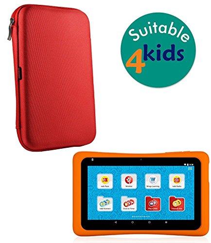 Preisvergleich Produktbild Navitech Red Hard Protective Case Cover For the Hot Wheels Tablet. Powered by nabi.