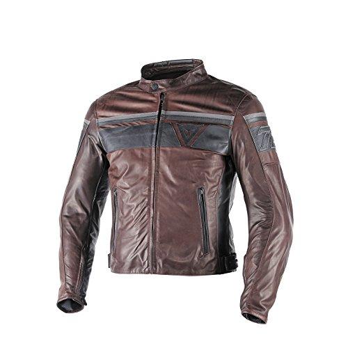 Dainese-blackjack giacca da moto in pelle, marrone scuro/nero/nero, taglia 52