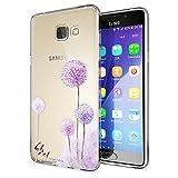 NALIA Handyhülle für Samsung Galaxy A5 2016, Slim Silikon Motiv Case Hülle Cover Crystal Schutzhülle Dünn Durchsichtig Etui Handy-Tasche Backcover Transparent Phone Bumper, Designs:Dandelion Pink