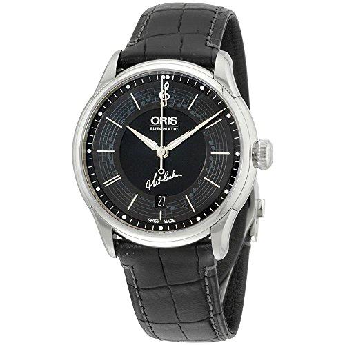 Oris Reloj de hombre automático 40mm dial negro 01 733 7591 4084-SET-LS