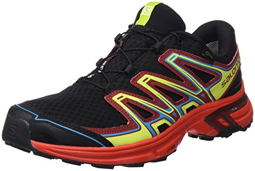 Salomon Wings Flyte 2 GTX, Zapatillas de Trail Running Hombre, Negro (Black/Fiery Red/Red Dalhia 000), 42 EU