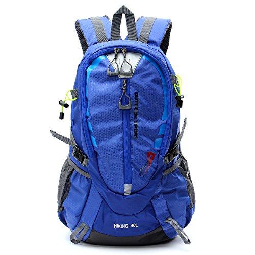 Inovey 40L Outdoor Impermeabile Sport Zaino In Spalla Unisex Trekking Viaggio Arrampicata Zaino Borsa Pack-Nero Arancia