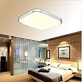 BAYTTER® 30W LED Deckenleuchte Deckenlampe 53 x 53cm warmweiß