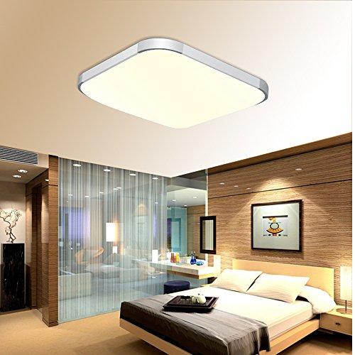 BAYTTER® 12W LED Deckenleuchte Deckenlampe für Esszimmer Arbeitszimmer Schlafzimmer usw, 30 x 30cm, warmweiß/kaltweiß (warmweiß)