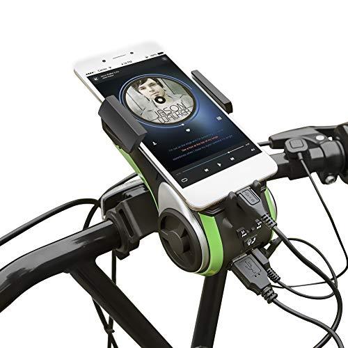 Altavoz Bluetooth, UPPEL Bluetooth Speaker, Altavoces Portatiles Bici Bluetooth V4.0 Altavoz+4400mAh Banco...