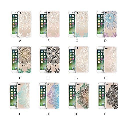 Ouneed® Für iPhone 7 Plus /5.5 Zoll Hülle, Pattern matt Hard Case Hülle für iPhone 7 Plus 5,5 Zoll (5.5 Zoll, F) A
