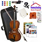 homeschool Musik–Learn To Play The Viola Pack (Disney Musik Buch Bundle)–Beinhaltet Student 40,6cm Viola w/Fall, Schleife, Bücher & All Inclusive Learning Essentials