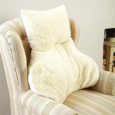 Faux Sheepskin Lumbar Support Cushion - low-cost UK light shop.