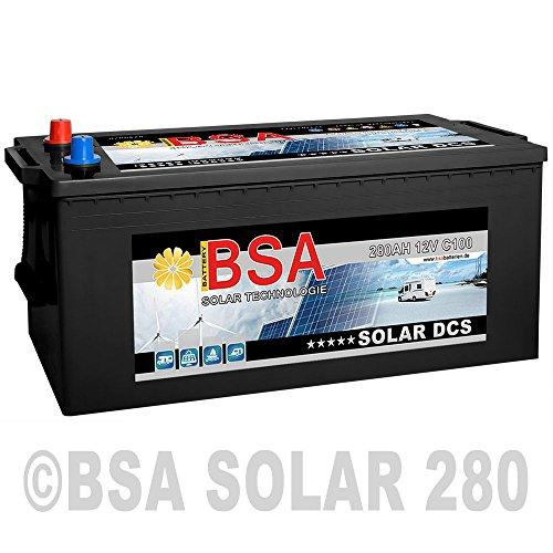 BSA Solarbatterie 12V 280Ah Boot Wohnmobil Versorgungsbatterie wartungsfrei -