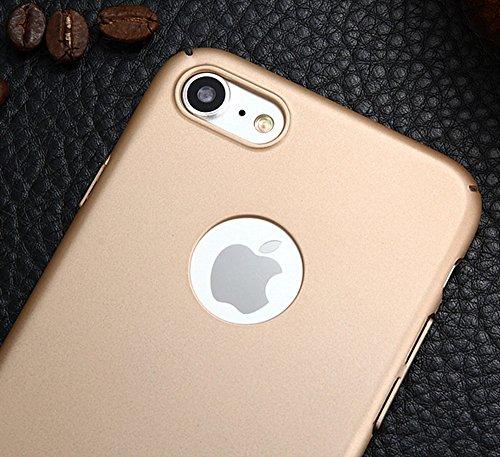 EKINHUI Case Cover Für Apple IPhone 7 Abdeckungs-Fall, helles Oberflächen-dünnes u. Leichtes Gewicht-Plastik harter schützender rückseitige Abdeckung ( Color : Red ) Rose Gold