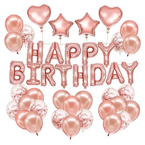 Wokee 1 Stück Set Geburtstag Deko Luftballons für Kinder,Luftballons Happy Birthday,Dekorationen Folienballons Geburtstag,Dekor für alle Erwachsenen geeignet