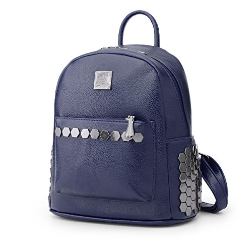 Valin S795 Ladies 2018 Fashion Pu Zaino Borse, 23x26x13.5 (wxhxd) Blu