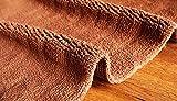 hlniubi Badematte Baumwolle hochwertige Schlafzimmer Teppich Teppich saugfähigen Anti-Rutsch-Matte Badezimmer Dunkler Kaffee_50 * 80 cm
