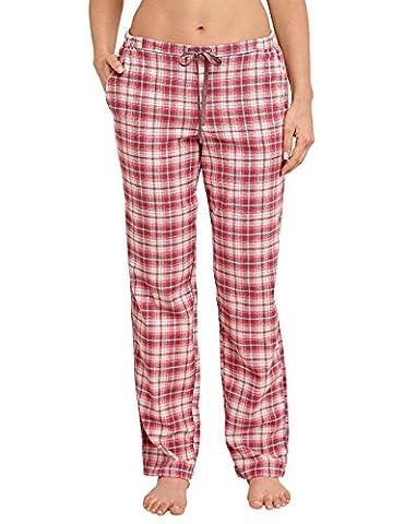 Schiesser Damen Schlafanzughose Mix&Relax Webhose Lang Rot (Rot 500), 42 (Herstellergröße: 042)