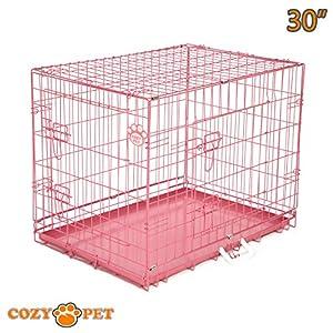 CozyPet Cage pour chien avec plateau en métal de haute qualité