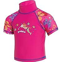 Zoggs Mermaid Flower Sun Camiseta, Infantil, Pink/Multi-Colour, 1-2 Años
