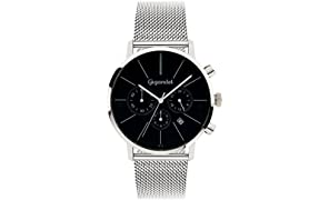 Gigandet Minimalism Men's Analogue Wrist Watch Quartz Chronograph Black Silver G32-006
