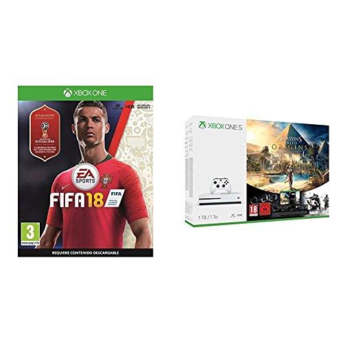 FIFA 18 - Edición estándar + Xbox One S - Consola 1 TB Assassin