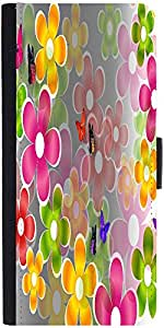 Snoogg Multicolored Daisies And Butterflies 2663 Graphic Snap On Hard Back Le...