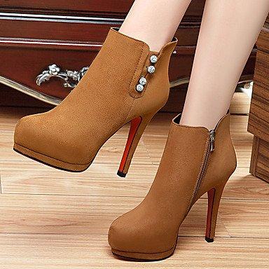 Moda Donna Sandali Sexy donna caduta tacchi tacchi Nozze in similpelle / Party & sera abito / Stiletto Heel altri Nero / Marrone Altri Black