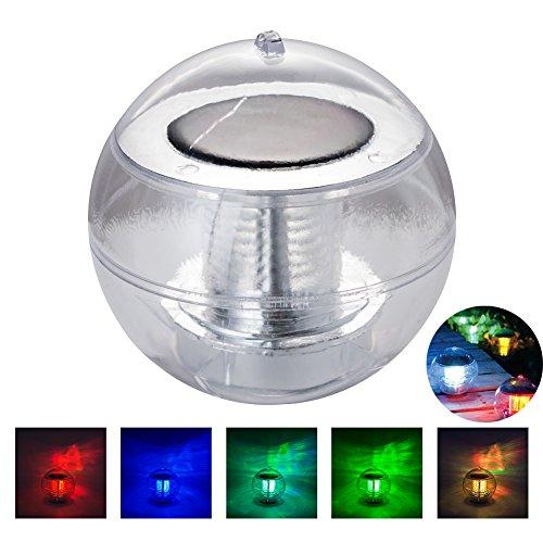 Lampe solaire LED Keeda - Système RVB - Peut être suspendue - Éclairage flottant idéal pour piscine, bassin - 7 couleurs changeantes Moderne RVB