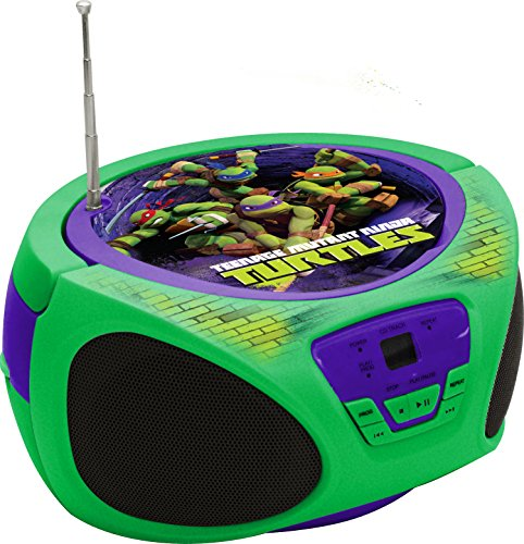 Sakar 57065-INT-EU - Teenage Mutant Ninja Turtles Radiorekorder mit AM/FM CD-Boombox Go Portable Ipod