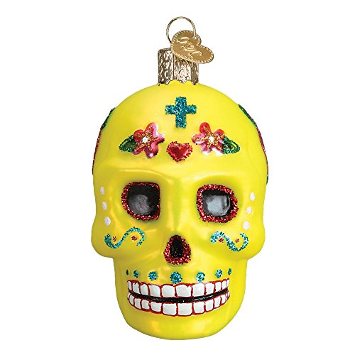 n Halloween Themed Glas geblasen Ornaments Sugar Skull ()