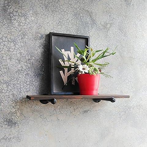 THk&M Regale Retro Blumen Rahmen hölzerne Regale Wand-montiert, 30 *