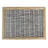 knietablett Rattan grau 43x33x7cm