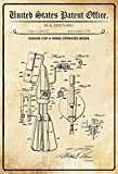 Schatzmix United States Patent Office - Design for A Hand Operated Mixer - Entwurf für einen Handmixer - Maynard, 1958 - Design No 2.863.332 - Metal Sign Blech Garten deko Schild