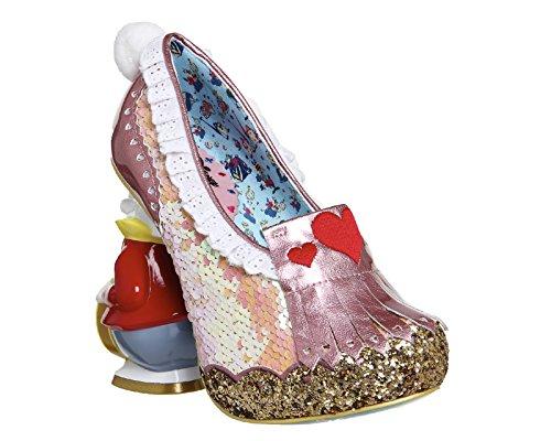 Irregular Choice White Rabbit Damen Pumps Pink