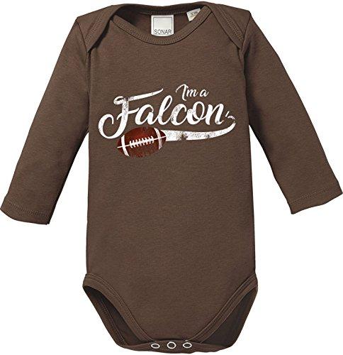| American Football Bio Baumwolle Baby Body Longsleeve (Falcon Handschuhe Kind)