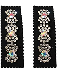 Salvus App SOLUTIONS Stylish White Stone 2 Hair Clips For Women Girls Hair Accessories Hair Clip And Clutches