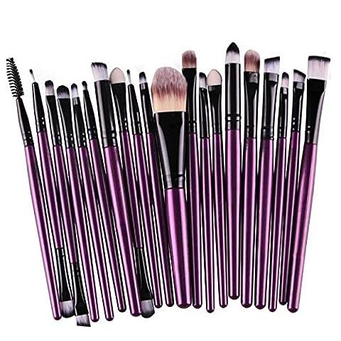 25x Professionellen Make-up Pinsel Fundament Pinsel Set Lila Schwarz (Professionelle Styling Bürste)