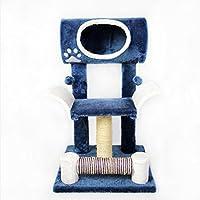 MUJING Three-Storey Horizontal Cat Tower Apartment Furniture Agarrando Post Pet House Play House