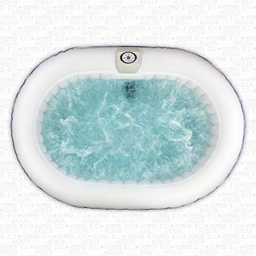 AQUAPARX Whirlpool AP-550SPA *oval 190x120cm* Pool 2Personen Wellness Spa Whirlpoolzubehör Badewanne 2P Wanne Indoor Outdoor Heizung aufblasbar - 4