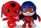 Prodigiosa 2x Peluches Ladybug y Tikki 25cm Las aventuras de Ladybug...
