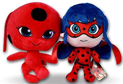 Peluche de Ladybug y peluche de Tikki 25cm