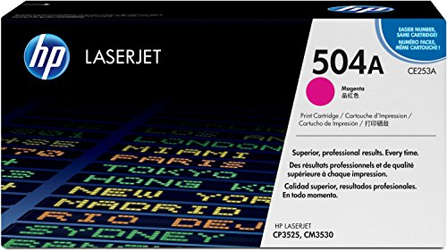 HP 504A (CE253A) Rot Original Toner für HP Color Laserjet CP3525, HP Color Laserjet CM3530 (Ce252a Hp)