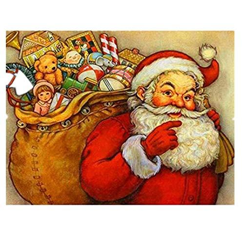 Hniunew Möbel Kinder Festival Painting Heiligabend Weihnachtsmann Weihnachtsstrumpf Weihnachtselch DIY 5D Diamant Bilder Muster Crystal I Bilder Kunst Handwerk GemäLde Festival Dekoration -