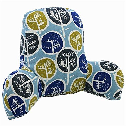 Tour de taille Coussin Oreiller Bureau de chaise en coton et lin Taie d'oreiller lombaire Tour de taille d'oreiller de coussin de dossier de siège de voiture Canapé prise en charge du dossier Taie d'oreiller