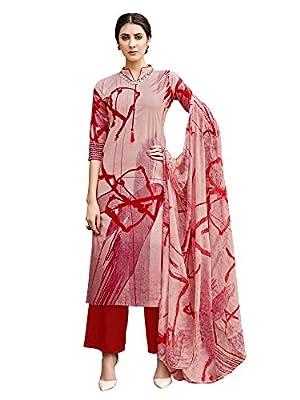 Applecreation cotton dress materials for women (unstitched cotton salwar suit_Mauve_ADCT718_Free Size)