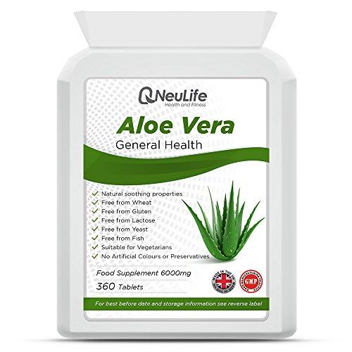 Aloe Vera 6000mg - 360 Tabletten - Neulife Gesundheit und Fitness