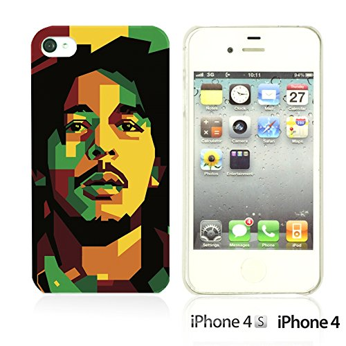 OBiDi - Celebrity Star Hard Back Case / Housse pour Apple iPhone 4S / Apple iPhone 4 - Che Guevara Bob Marley