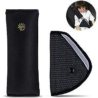 Sundell Almohadillas para Cinturón Cojín de Coche, Cabrito Almohadillas Protectores, Niño Apoyo para la Cabeza la Ayuda del Cuello Almohada Confort Cinturón