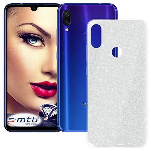 mtb more energy® TPU Hülle Shine für Xiaomi Redmi Note 7 | Note 7 Pro (6.3'') | Silber | Glitzer-Effekt | flexibel | Schutzhülle Case Cover Tasche