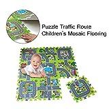 Dkings Kids Rugs Street Map in Grey Tapis pour Les Enfants et Les Enfants Chambres à Coucher et Salle de Jeux